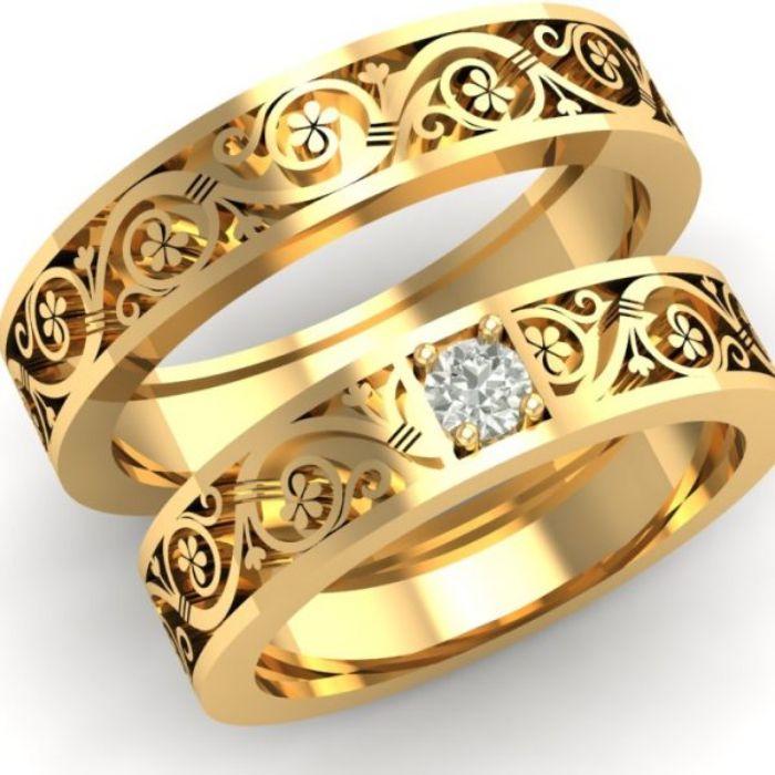 Nhẫn cưới vàng 10k thiết kế tinh xảo