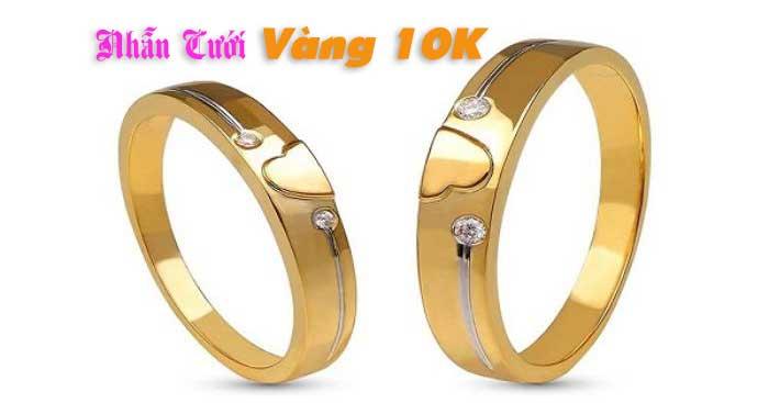 Chiêm ngưỡng mẫu thiết kế nhẫn cưới vàng 10k đẹp mắt