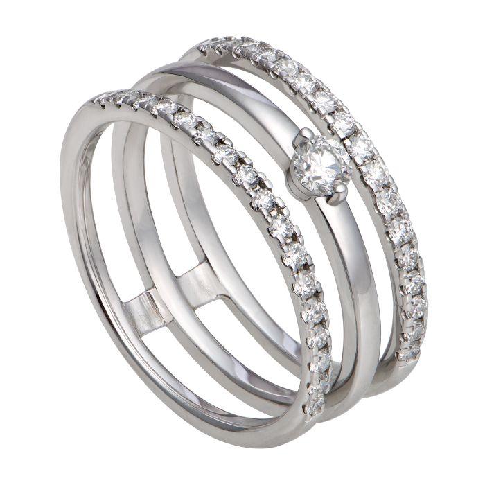 Cặp nhẫn vàng trắng 14k