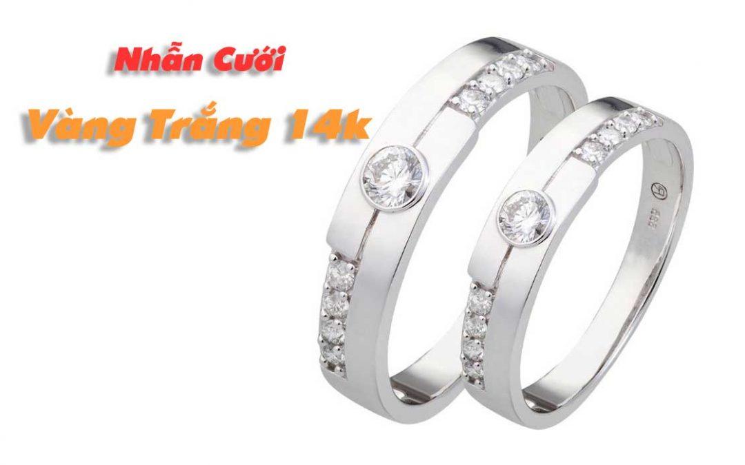 Nhẫn cưới vàng trắng 14k nên chọn mẫu nào?
