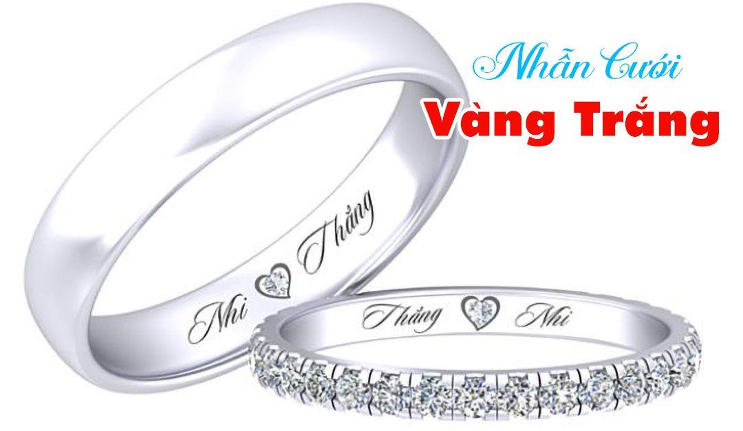 Những mẫu nhẫn cưới vàng trắng độc đáo