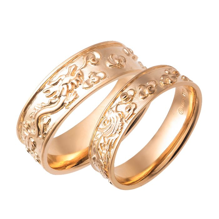 Nhẫn cưới long phụng bằng vàng 18k