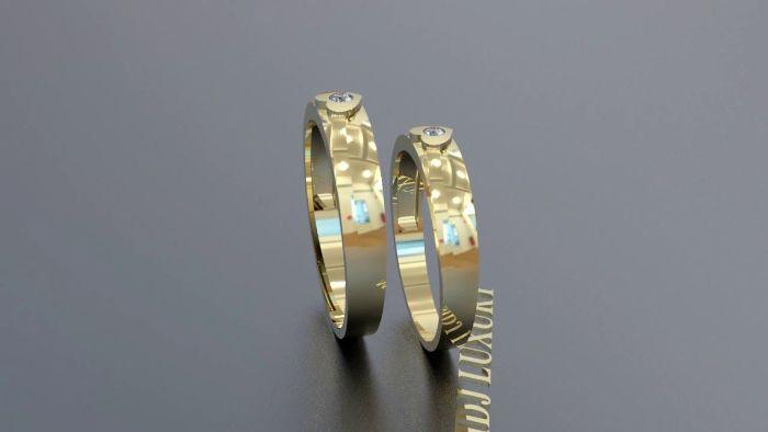 Nhẫn cưới vàng 18k có tính thẩm mỹ cao